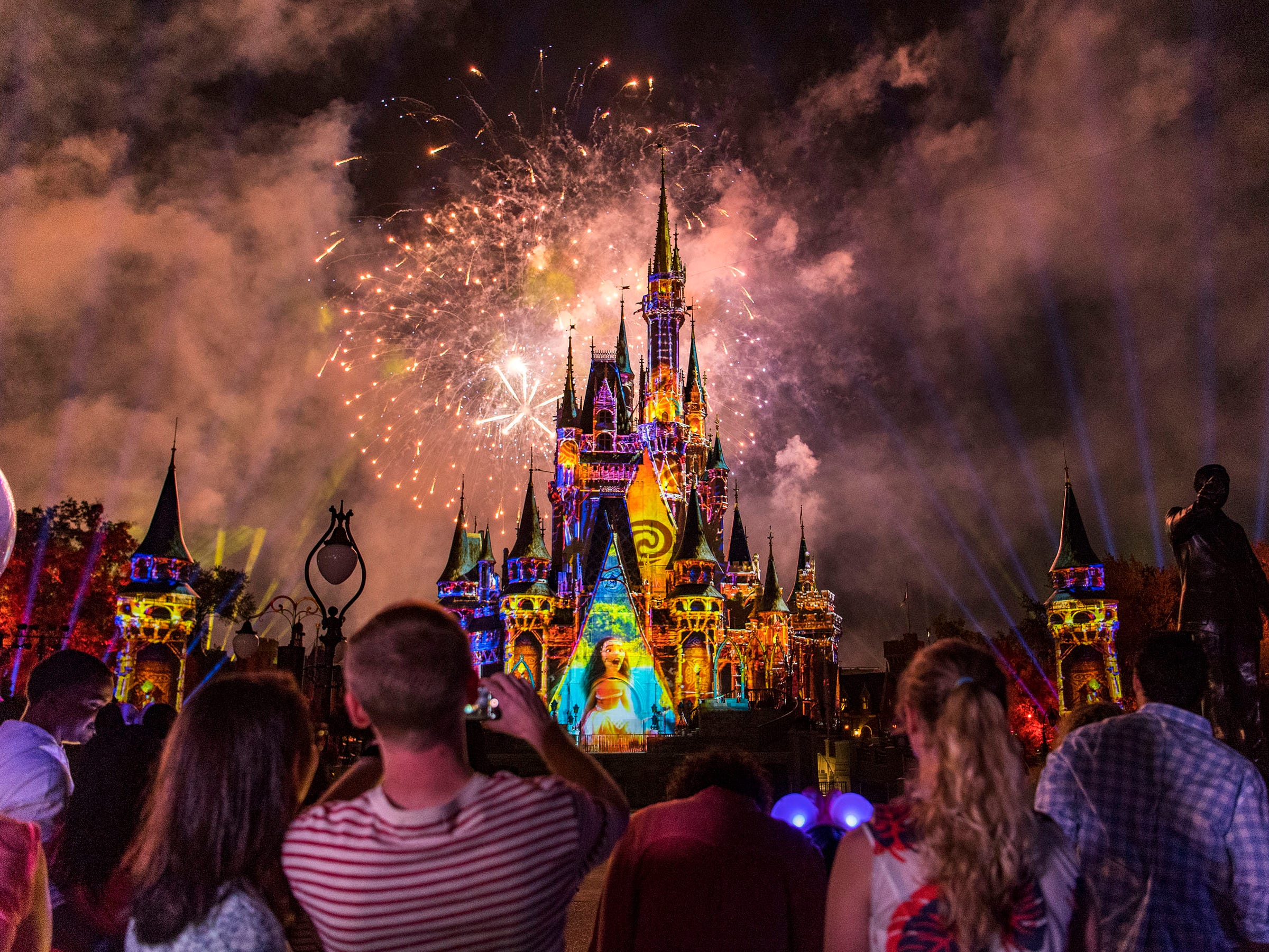 While there are fireworks every night at Walt Disney World in Lake Buena Vista, Florida, the theme park welcomes New Year's with a bang.