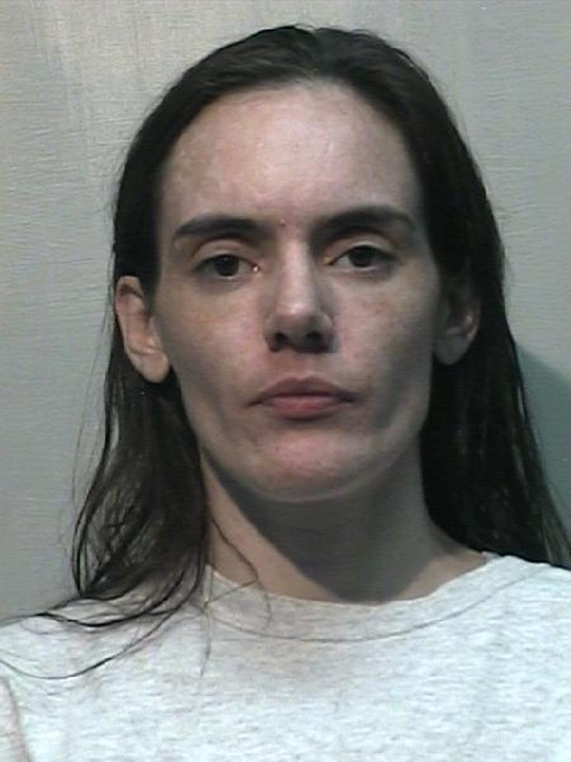 Trista Chisholm when she arrived in state prison from the Kitsap County Jail, August 2017.