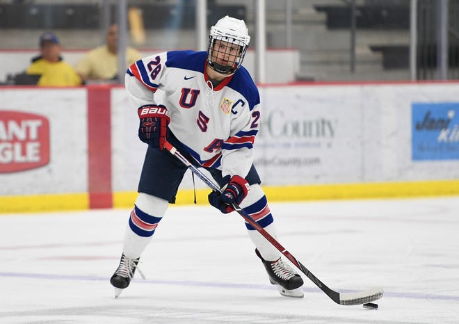 Joel Farabee has two years of experience with the U.S. National Team Development Program. He'll be a key piece to the team at the World Junior Championship.