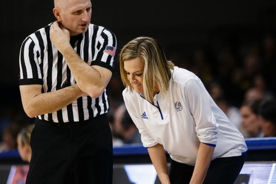 Drake coach Jennie Baranczyk helped put together a tough non-conference schedule for her team.