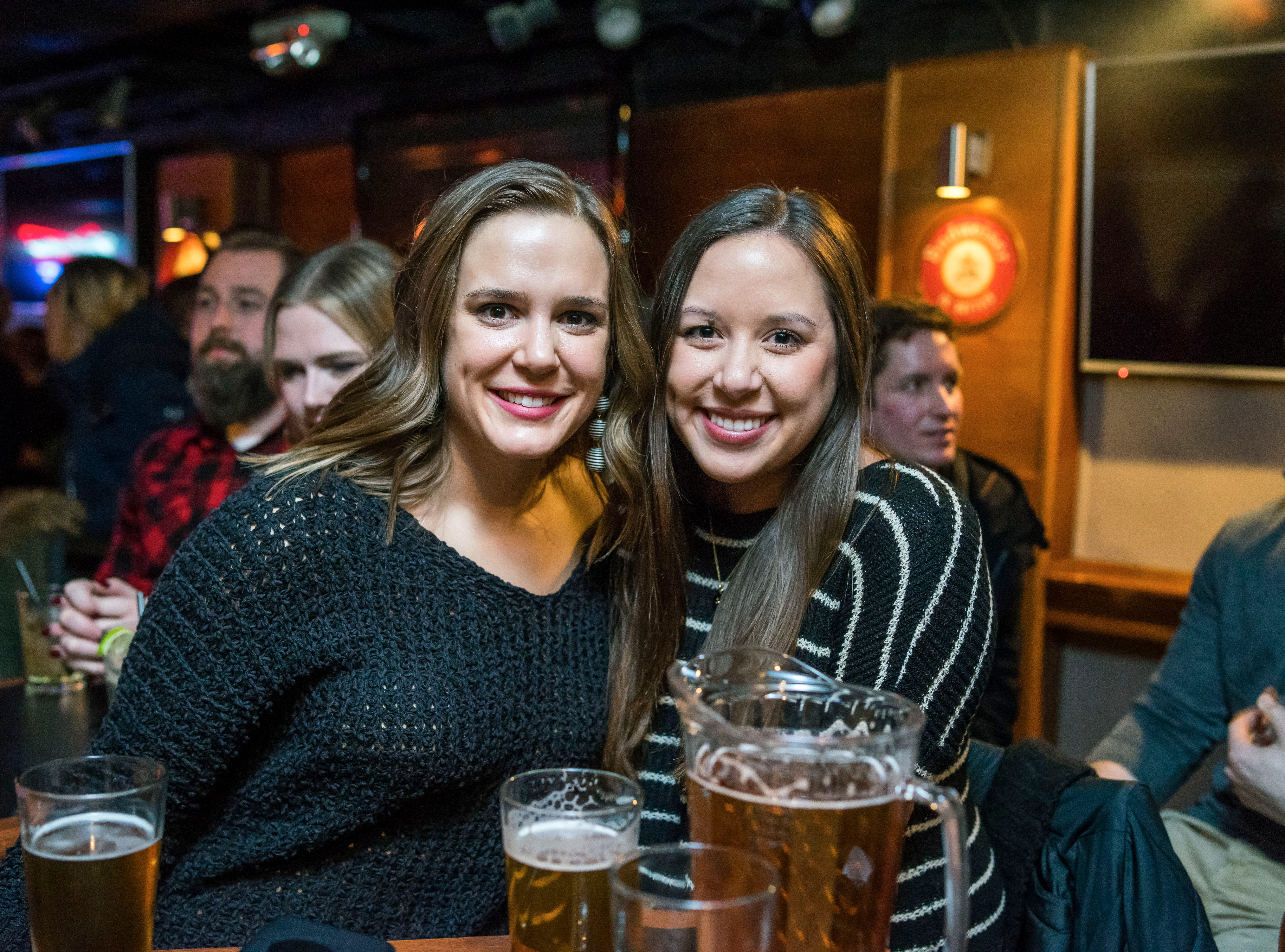 Zannie Thomas-Peckumn, 27, Sam Stonehocker, 27, both of Des Moines, having a great time, Friday, Dec. 21, at the Bomb Shelter Comedy Showcase, hosted by the Beechwood.