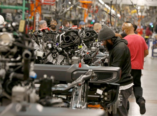 The Jeep Wrangler assembly line at the Toledo North Assembly Plant in Toledo, Ohio on Friday, November 16, 2018.