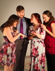 "Meredith Deighton, left, Matt Wallace, Jaye Stellini and Annie Dilworth in the Ringwald's production of ""Significant Other."""