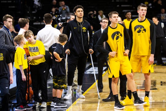 Iowa forward Cordell Pemsl is off the crutches and ready to resume his basketball career after a third knee surgery.