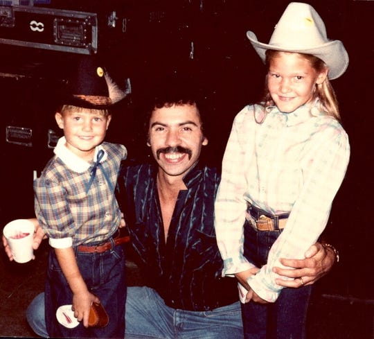 Ginger Rough and her sister, Kristen Hellmer, attended dozens of Oak Ridge Boys concerts as young children. This is backstage at a state fair in Chicago in 1982.