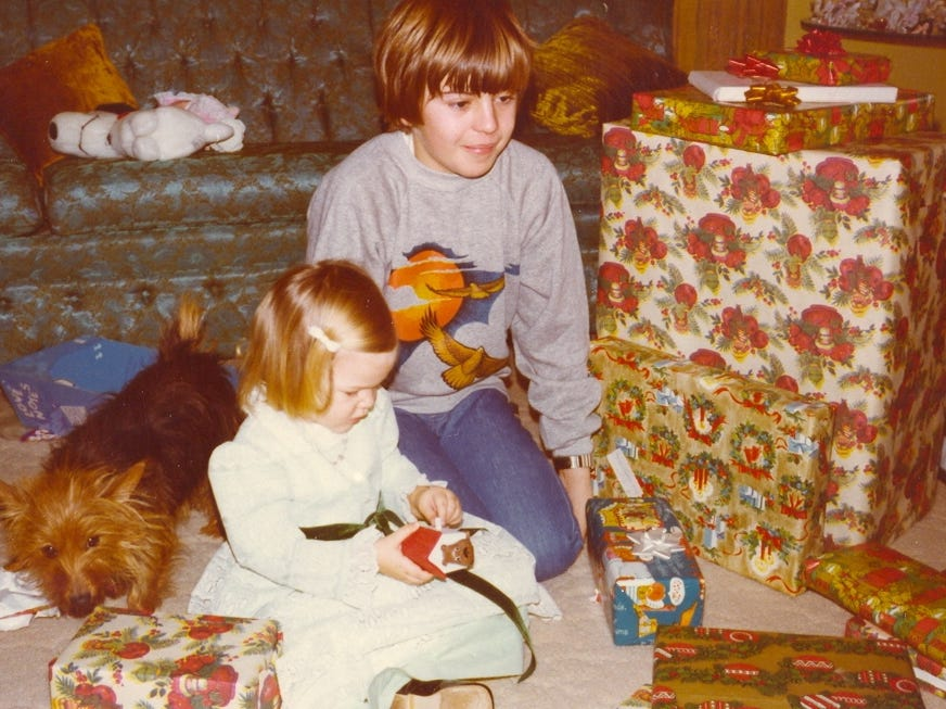 Author Ginger Rough and her uncle, Kerry Richardson, had a special bond as children.