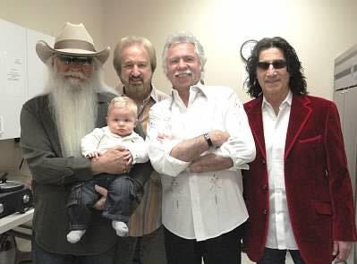 Author Ginger Rough, who met The Oak Ridge Boys in 1982, introduces her son to her friends William Lee Golden, Duane Allen, Joe Bonsall and Richard Sterban in 2012.
