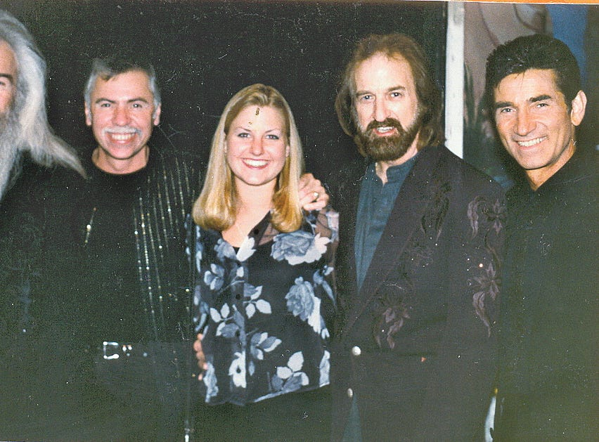 Ginger Rough and Kristen Hellmer with The Oak Ridge Boys in the mid 1990s.