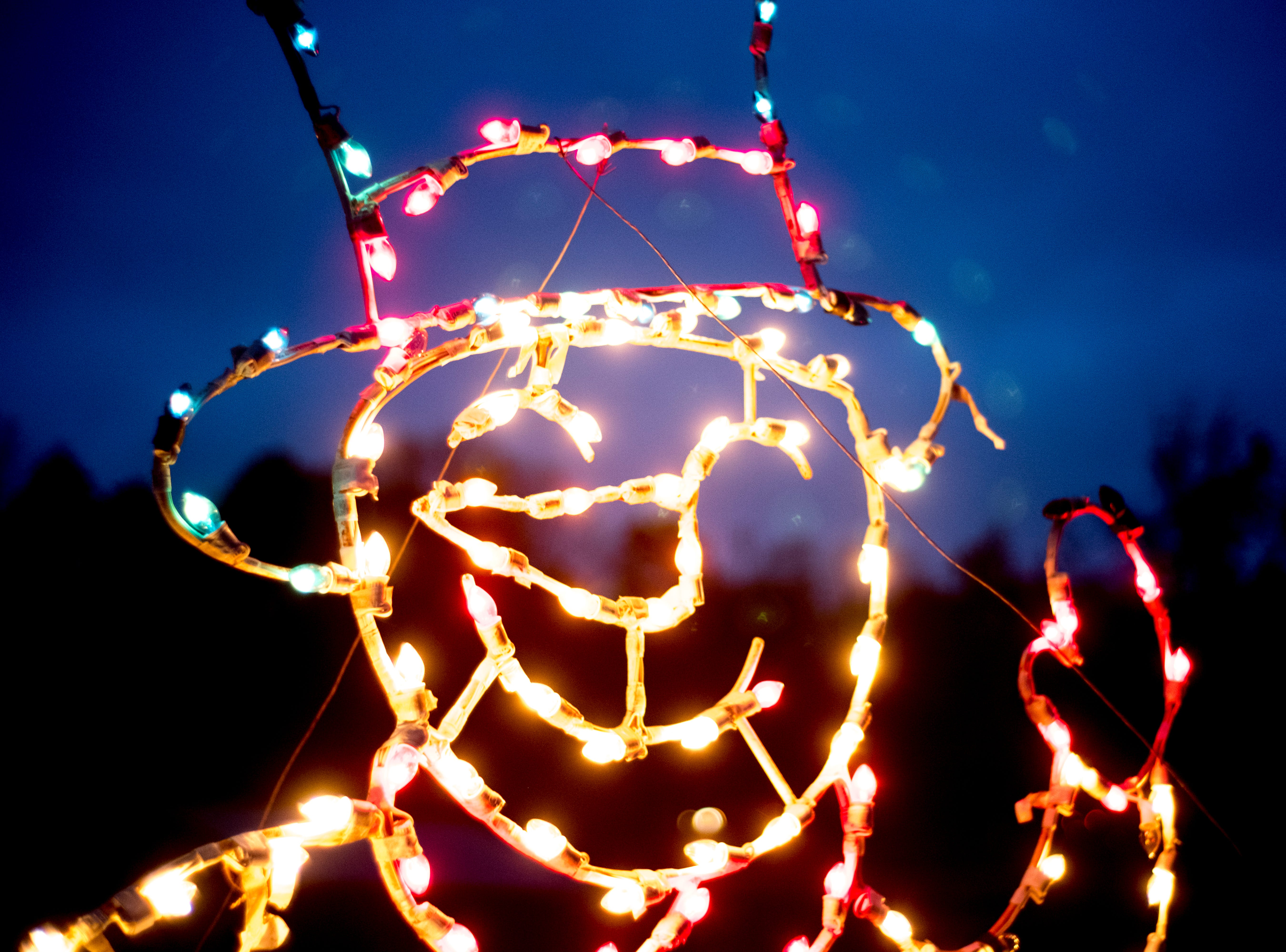 A snowman light at Knox CountyÕs 20th annual Holiday Festival of Lights kick off at The Cove at Concord Park in Farragut, Tennessee on Friday, December 21, 2018. The family-friendly event is free and will run through Dec. 29 from 6 to 9 p.m., excluding Christmas Eve and Christmas Day.