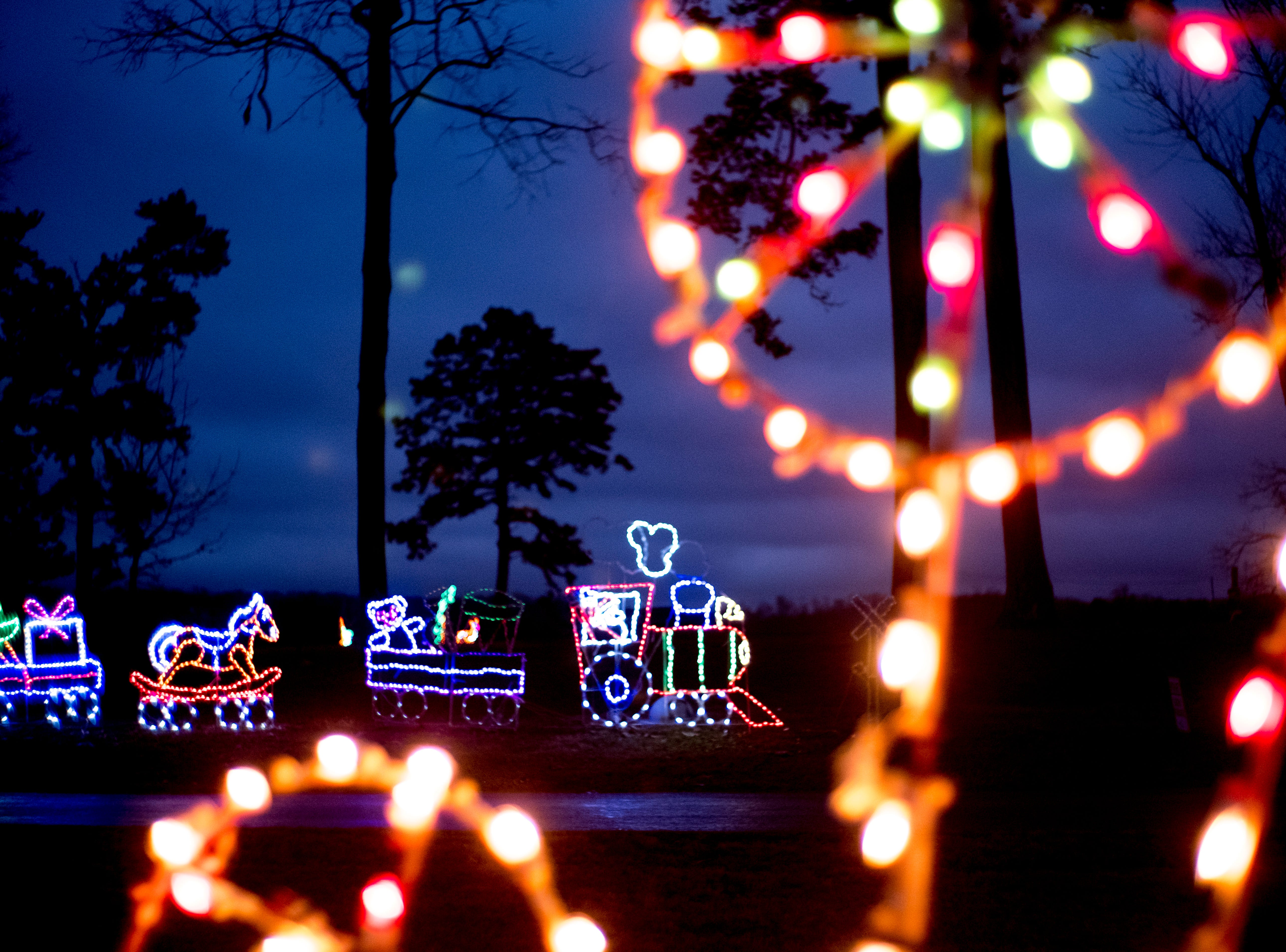 Holiday lights at Knox CountyÕs 20th annual Holiday Festival of Lights kick off at The Cove at Concord Park in Farragut, Tennessee on Friday, December 21, 2018. The family-friendly event is free and will run through Dec. 29 from 6 to 9 p.m., excluding Christmas Eve and Christmas Day.
