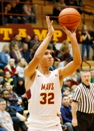 Mason Douglas, who had 14 points,  and his McCutcheon teammates found open shots tough to come by against Logansport in the first half Friday night.