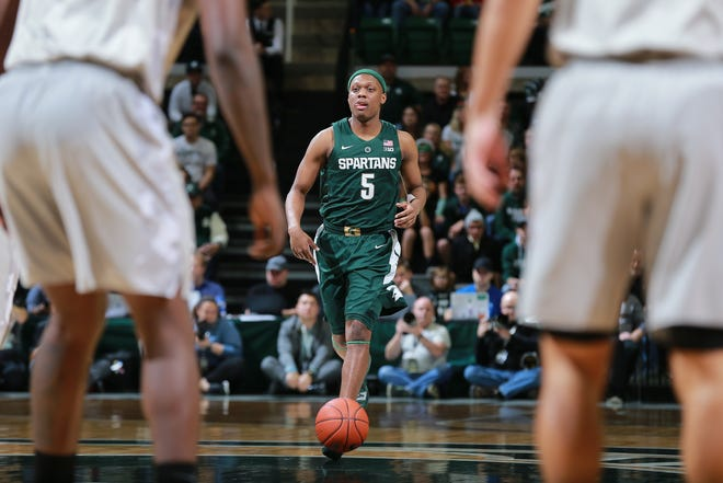 Cassius Winston is averaging 16.9 points and 7.5 assists for the 10-2 Spartans.