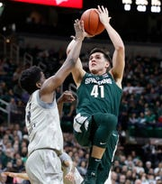 Conner George played only 11 total minutes during the Big Ten season. He played 5 meaningful minutes Thursday against Bradley.