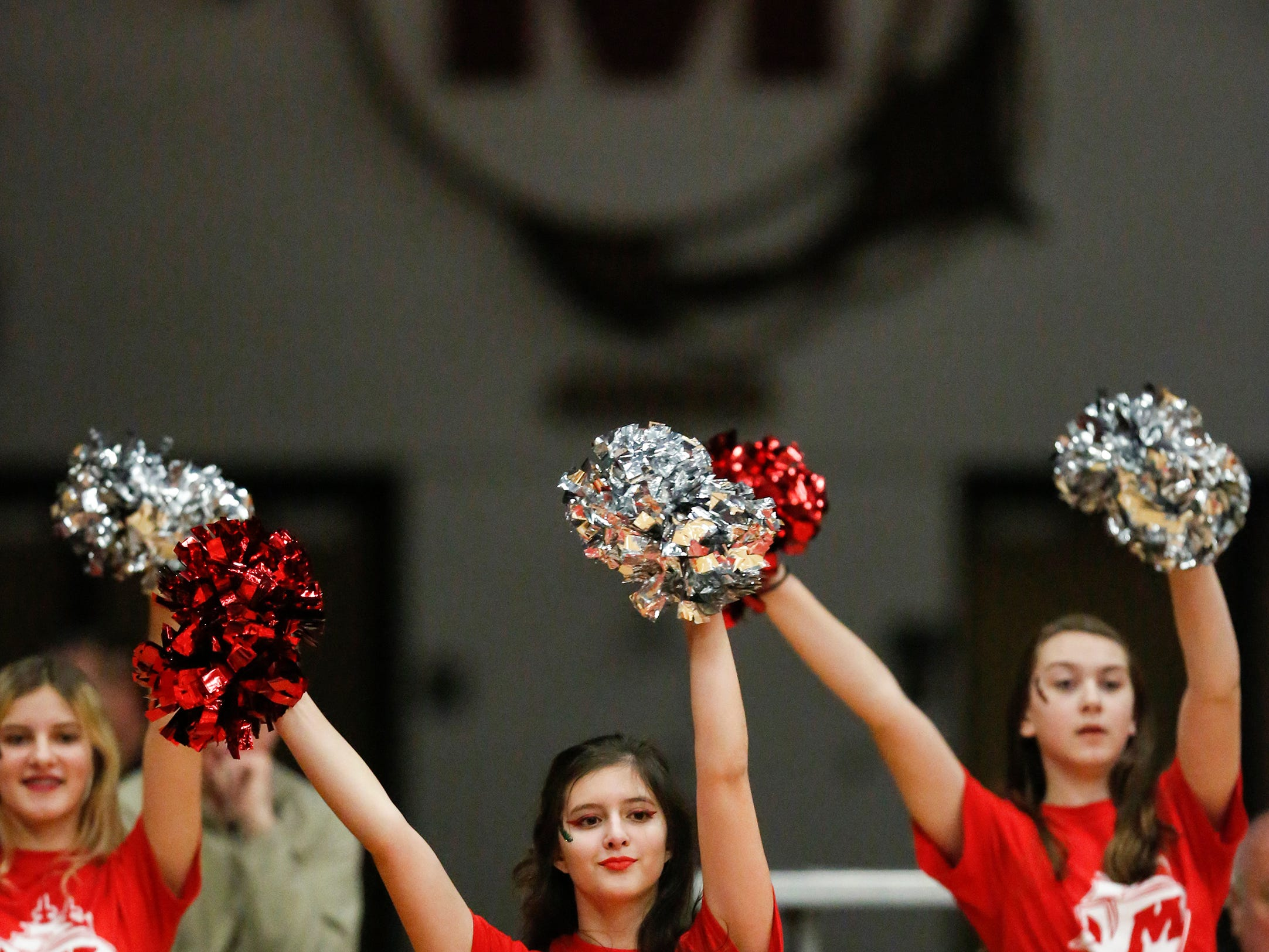 Manitowoc Lincoln's dance team performs before the Ships' game against Green Bay Preble at Manitowoc Lincoln High School Friday, December 21, 2018, in Manitowoc, Wis. Joshua Clark/USA TODAY NETWORK-Wisconsin