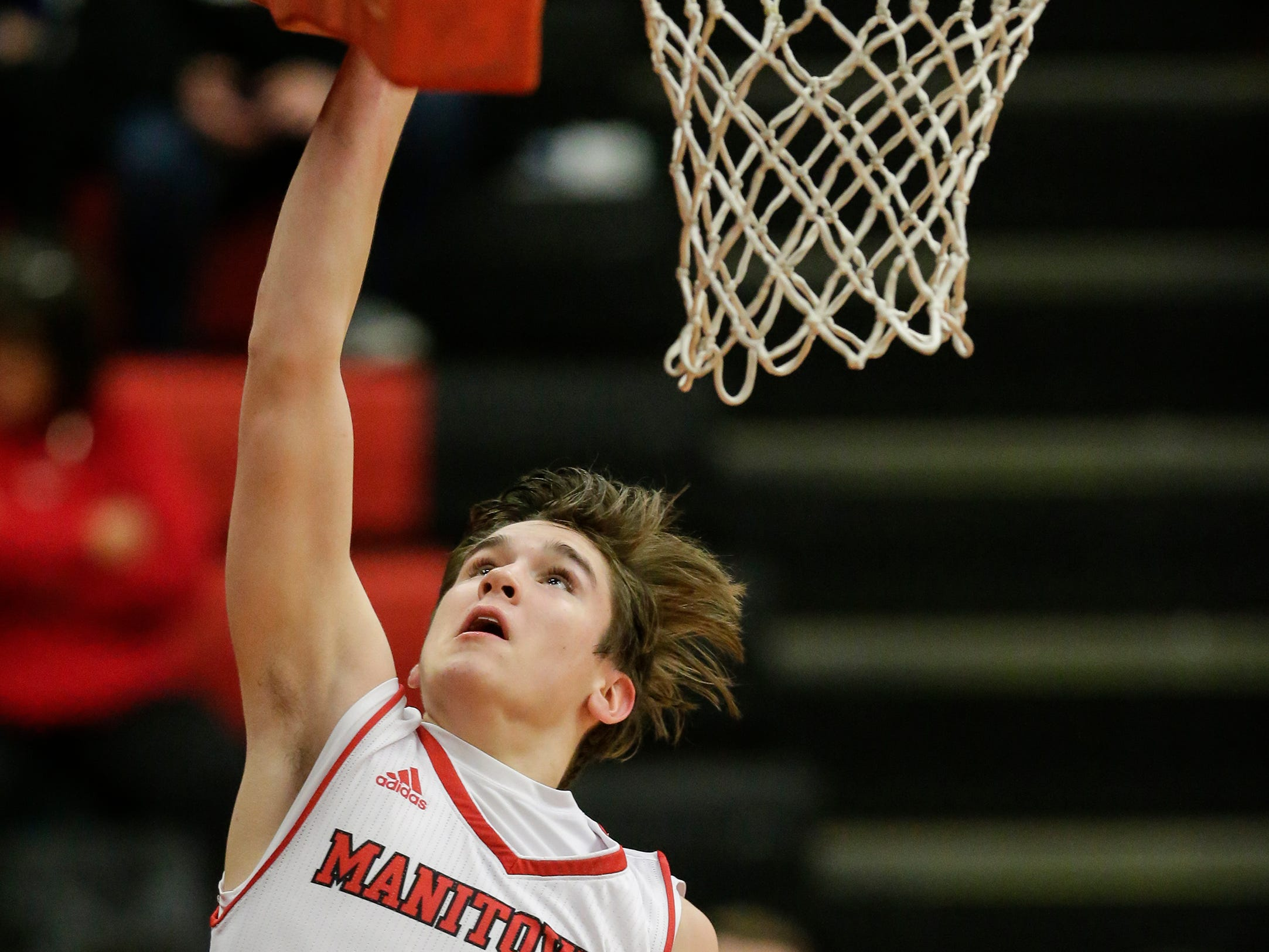 Manitowoc Lincoln's Mason Dopirak shoots a layup on a fast break against Green Bay Preble during boys FRCC basketball at Manitowoc Lincoln High School Friday, December 21, 2018, in Manitowoc, Wis. Joshua Clark/USA TODAY NETWORK-Wisconsin
