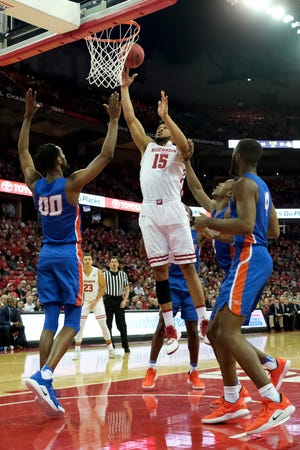 Charlie Thomas had his best game of the season in the Badgers victory over Savannah State on Dec. 13 with eight rebounds, six points, two blocks and a steal.