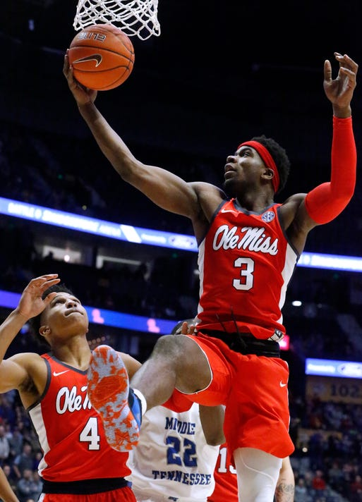 ole miss basketball rebels defeat florida gulf coast for seventh