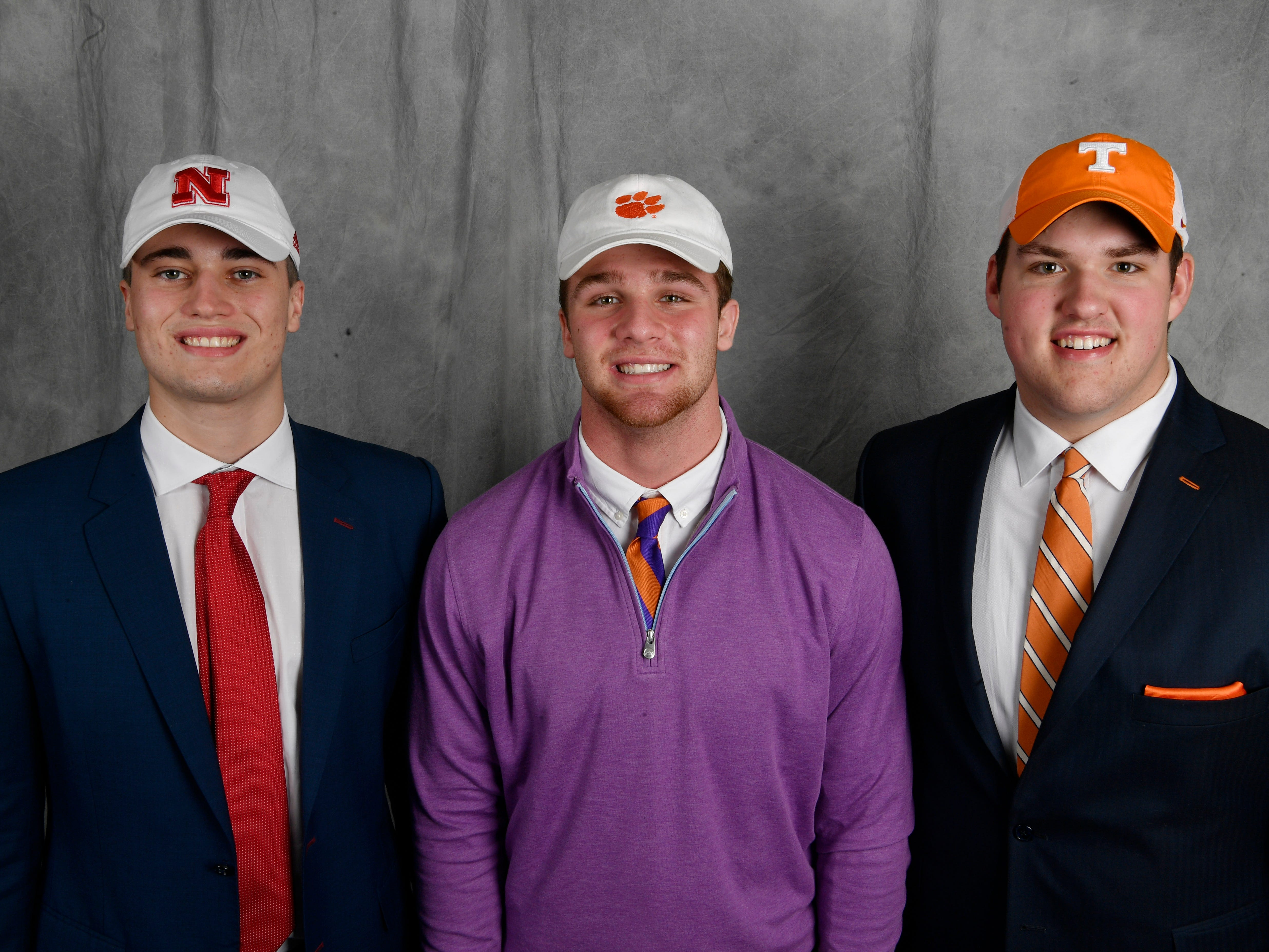 Close friends Jackson Hannah (Nebraska), Kane Patterson (Clemson) and Jackson Lampley (Tennessee) all signed on the first day of the early signing period.