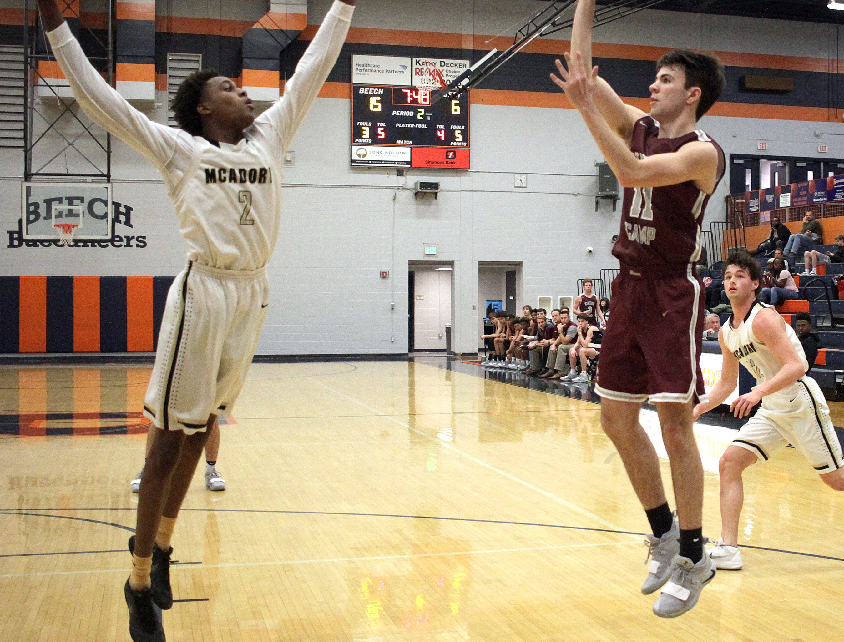 Station Camp's Greyson Isenberg shoots a jumper against McAdory on Friday, December 21, 2018.