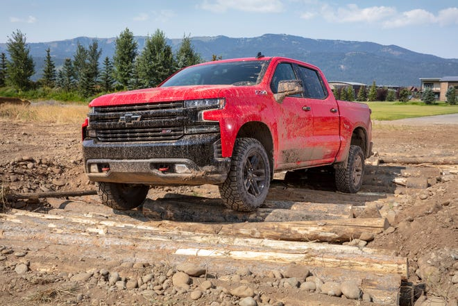 At home off road, the 2019 Chevrolet Silverado Trail Boss is also a capable hauler of cargo — 63 cubic feet of it, according to the truck builder.