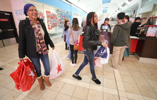Lana Royal and her daughter Chantel were some of the  shoppers that rushed to Garden State Plaza to purchase last minute Christmas gifts in Paramus on December 22, 2018.