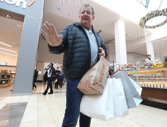 James Murray of Woodcliff Lake was one the shoppers who rushed to Garden State Plaza to purchase last minute Christmas gifts in Paramus on December 22, 2018.