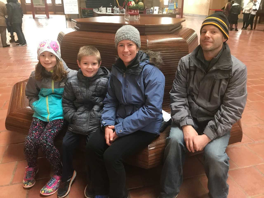 Josei, Dylan Rachel and Jason Strickland came from Richmond, Virginia, to see the Statue of Liberty, unaware access might be affected by the federal government shutdown.