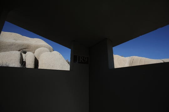 Joshua Tree National Park was unattended by any park service personnel on Saturday December 22, 2018 as the budgetary shutdown of the federal government kicked in in California. In this photo, a bathroom remained opened at Jumbo Rocks Campground.