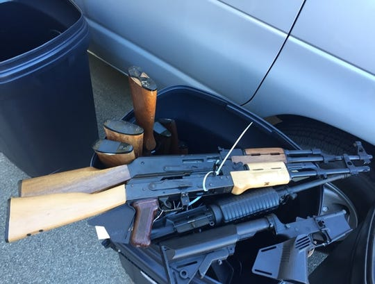About half of the more than 50 guns turned in to the Cathedral City Police Department on Saturday were rifles, including two assault-style rifles, police said. The gun buyback program exchanged guns for gift cards.