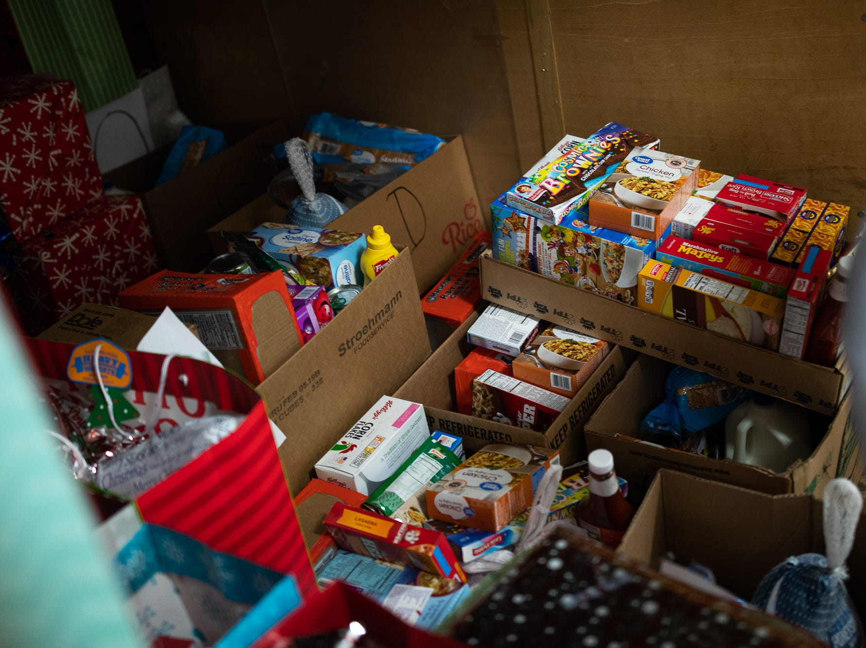 Presents are loaded in a trailer at the Southeastern Adams County Volunteer Emergency Services fire station during the S.A.V.E.S Project Santa, Saturday, Dec. 22, 2018, in McSherrystown Borough. The S.A.V.E.S Project Santa donated food, toys, and clothing to 12 local families in need.