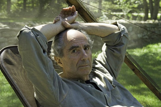 Novelist Philip Roth sits at his home in Warren, Conn., on Sept. 5, 2005.