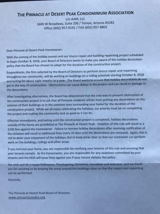 North Phoenix HOA bans community decorations, angering residents