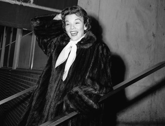Actress Nanette Fabray is seen on Dec. 10, 1955.
