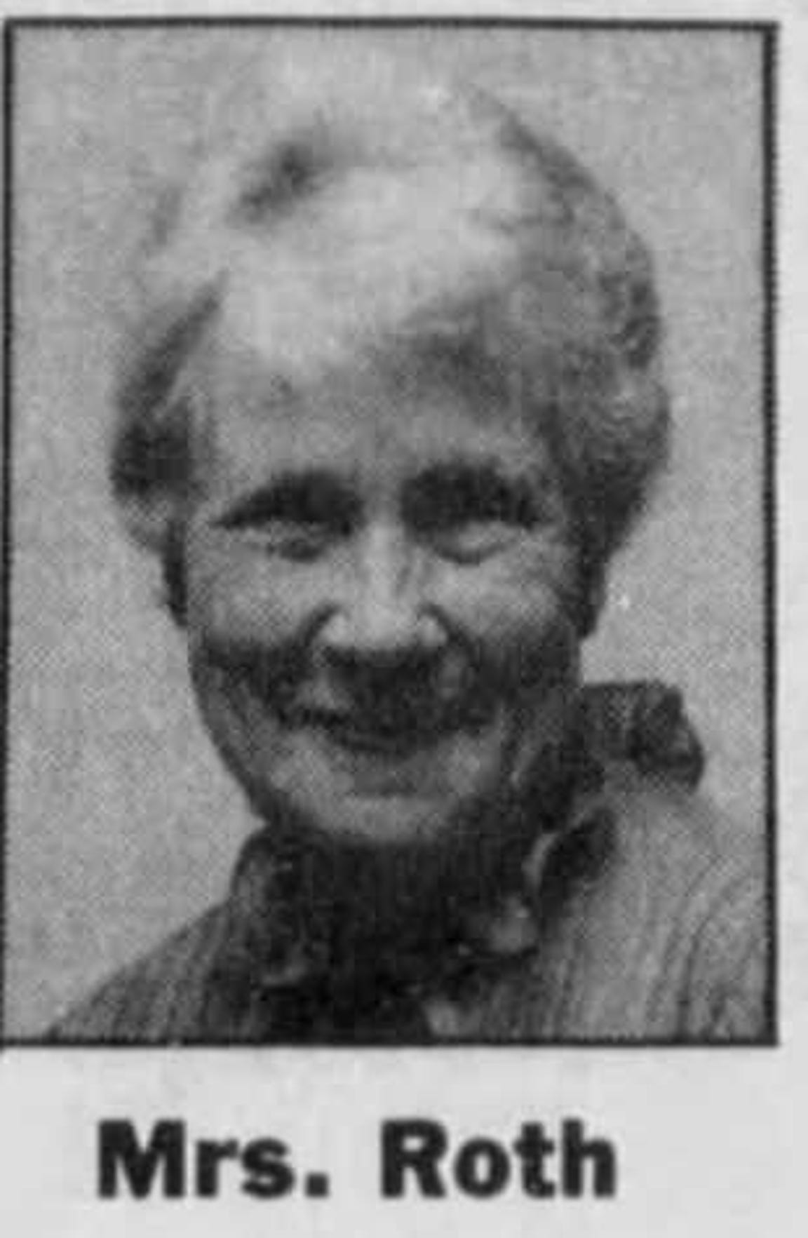 Freda Roth, Sharon Elliott's biological mother.
