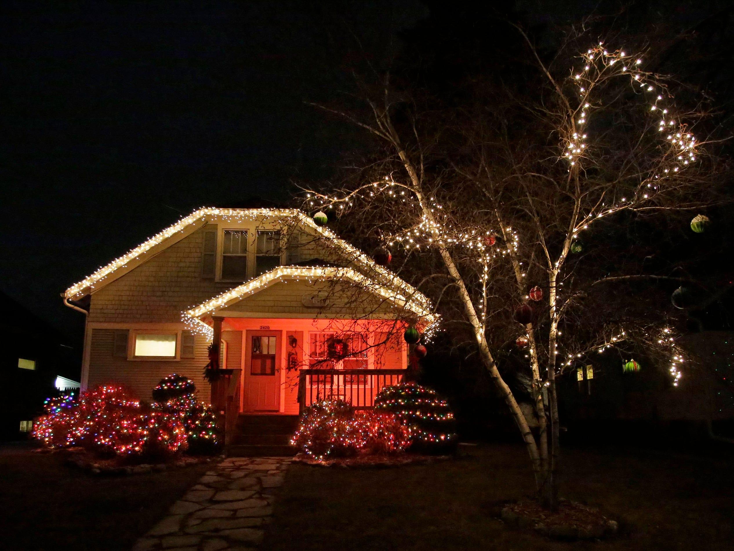 Holiday lights on Main Avenue, Thursday, December 20, 2018, in Sheboygan, Wis.