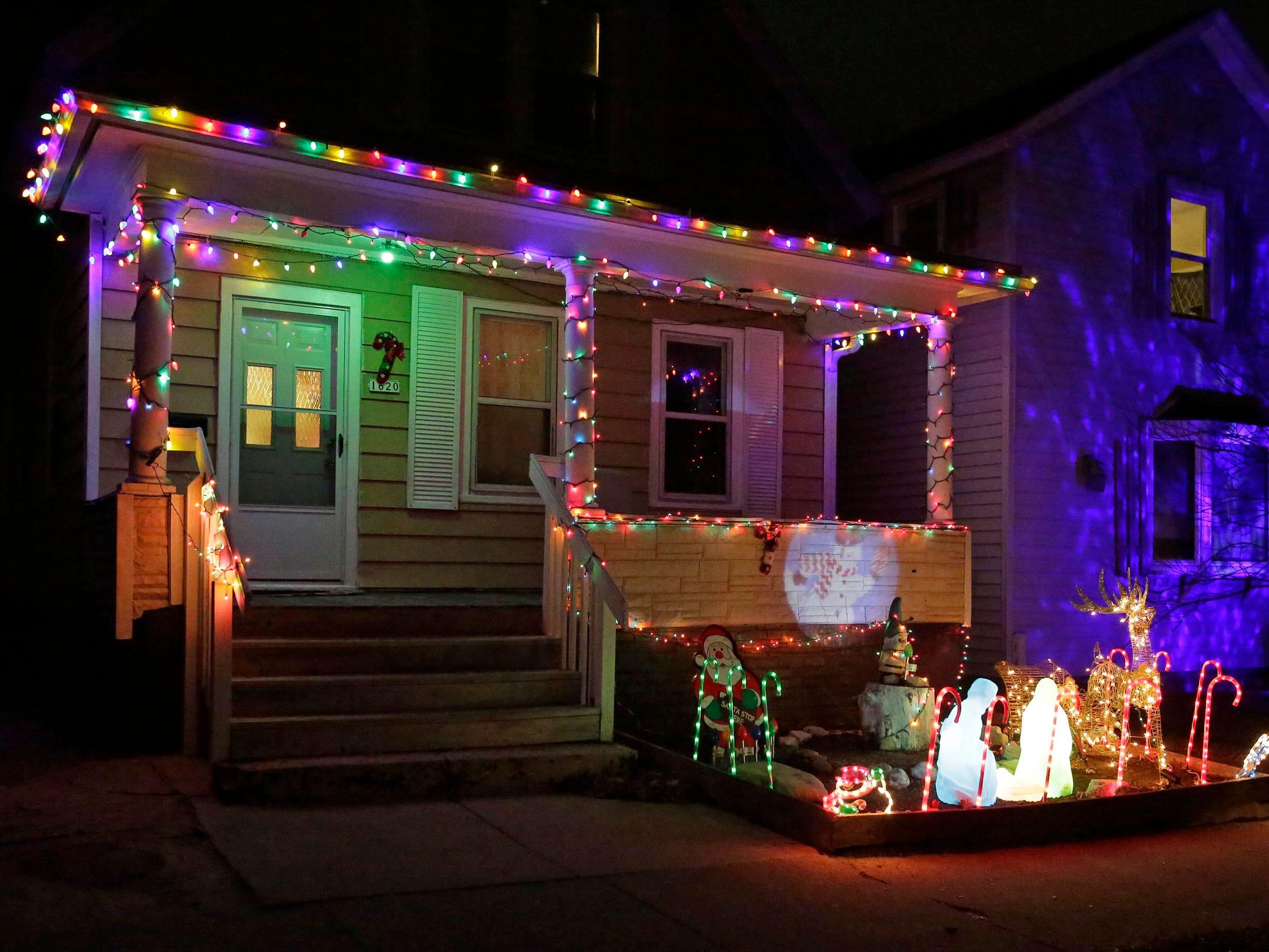 Holiday lights on Superior Avenue, Thursday, December 20, 2018, in Sheboygan, Wis.