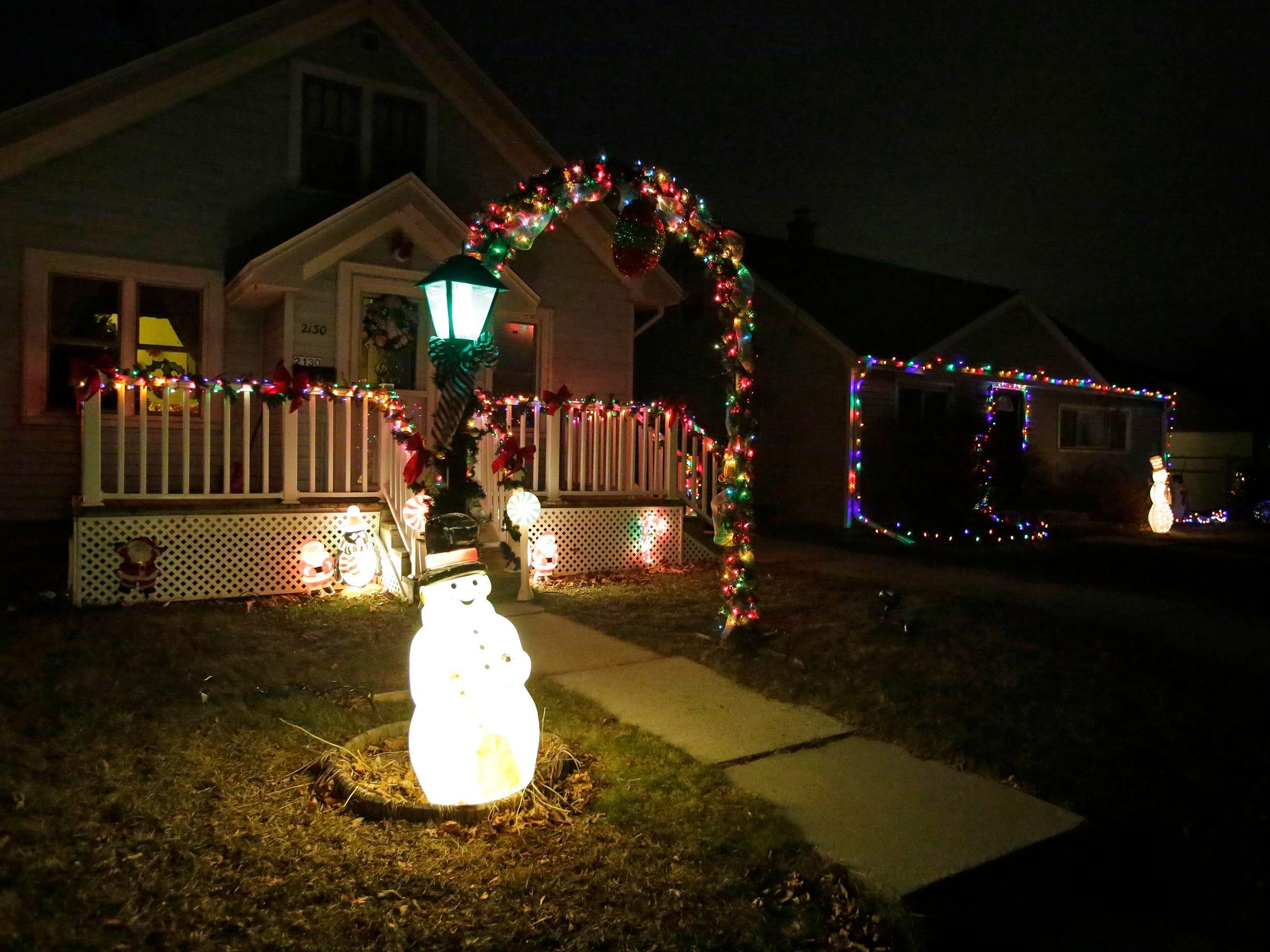 Holiday lights on Sheboygan's North side, Thursday, December 20, 2018, in Sheboygan, Wis.