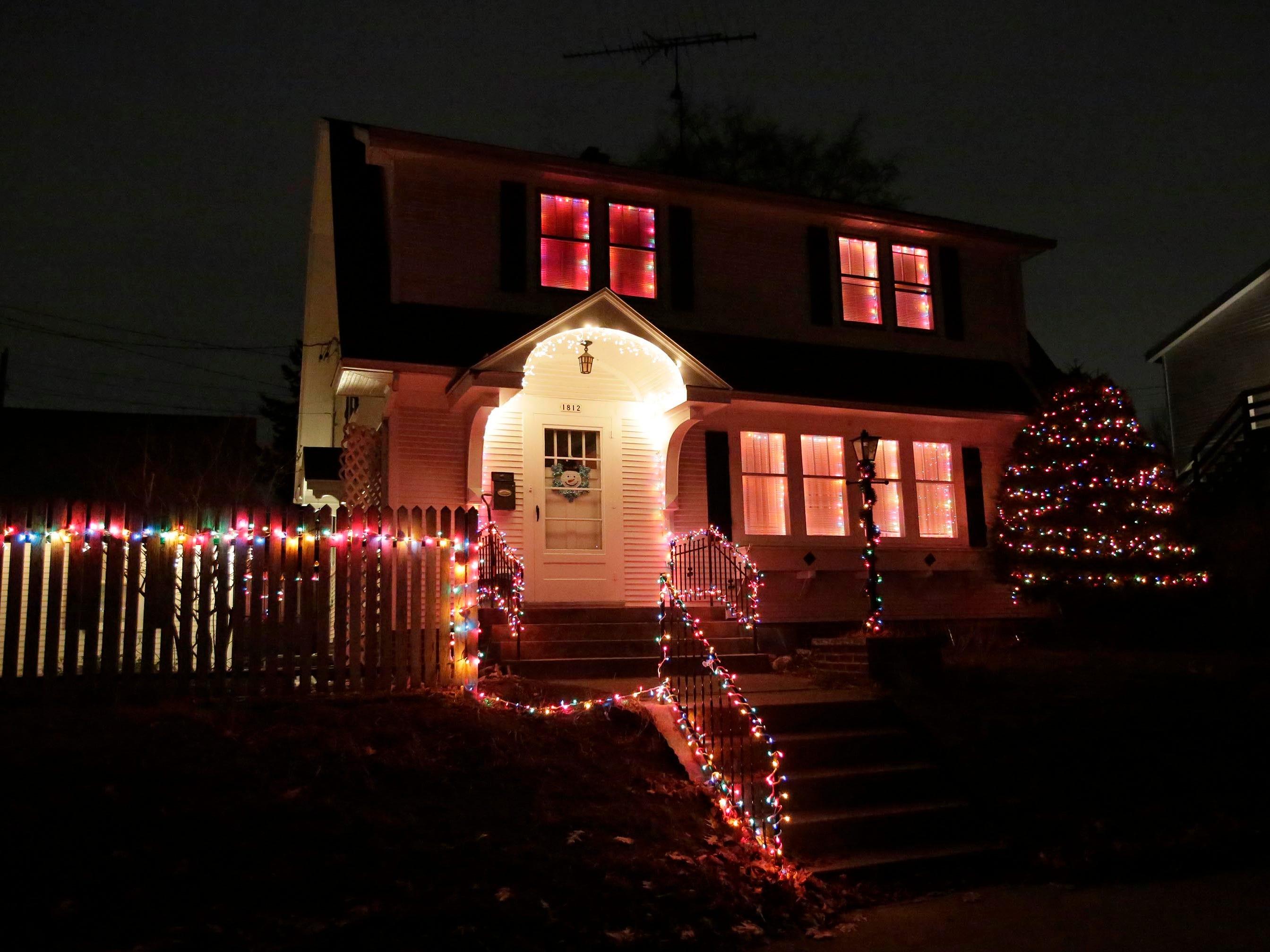 Holiday lights on S. 11th Street, Thursday, December 20, 2018, in Sheboygan, Wis.