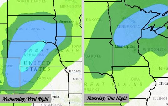 These areas could see heavy snow in the days after Christmas, the National Weather Service says. However, the exact storm track and projected snowfall amounts are still unknown.