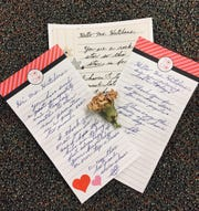 Letters that Steve Guerrini wrote to Michelle Hutchens, a teacher at Wilson Memorial High School. He wrote letters to many teachers throughout his years at Wilson.