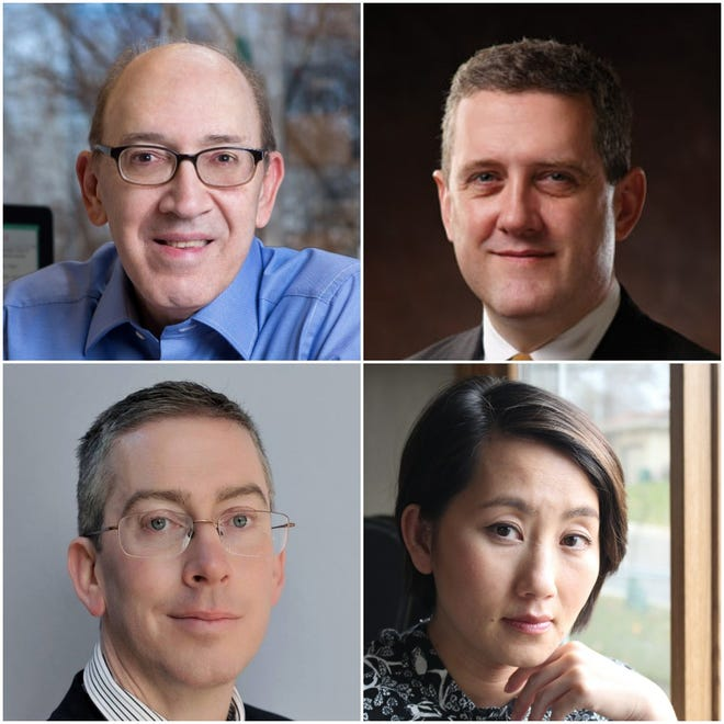 George Borjas, (top left), James Bullard, Bryan Caplan and Kao Kalia Yang are scheduled to speak at the 57th annual Winter Institute at St. Cloud State University.