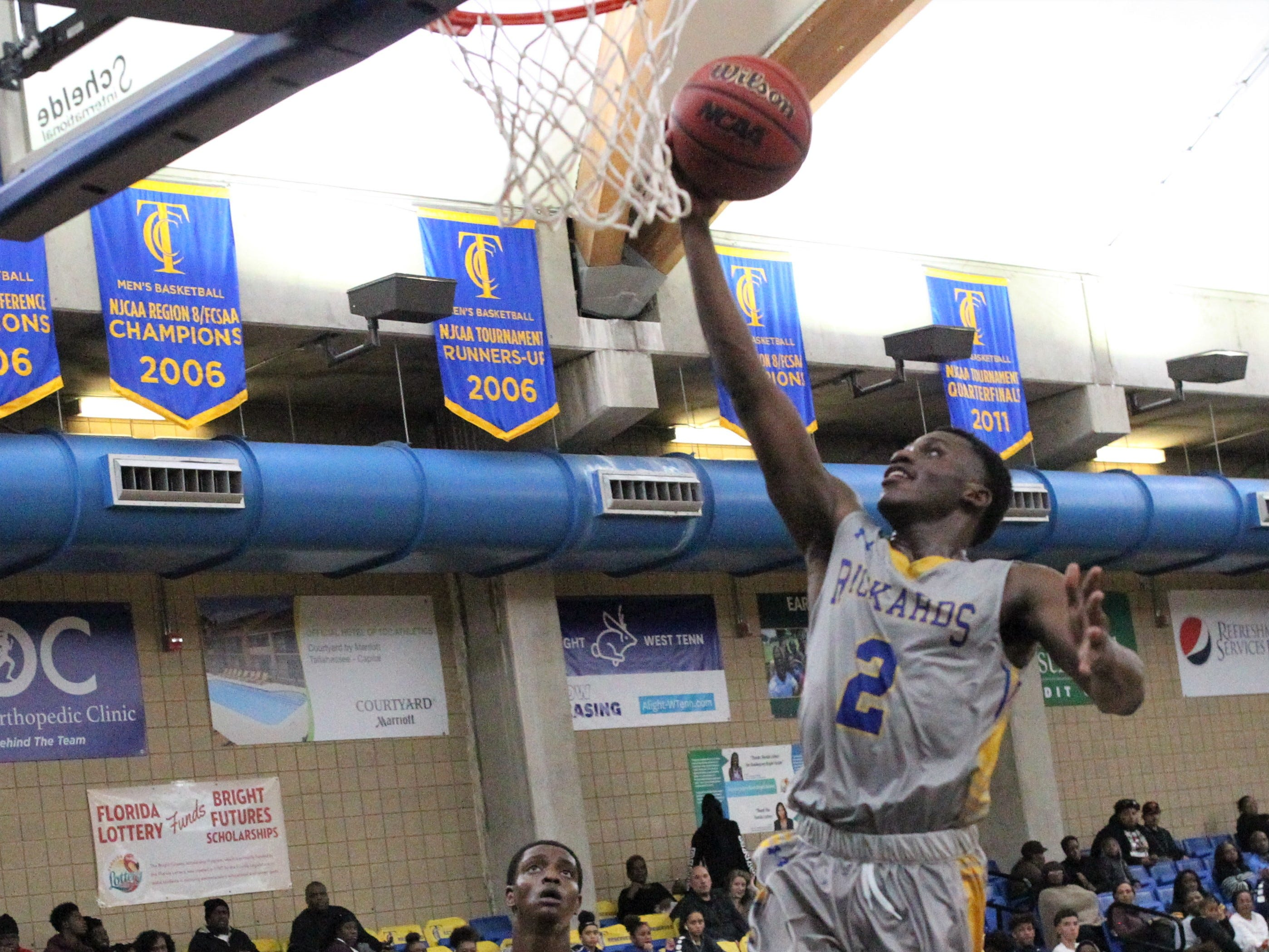 Rickards guard Otis Young goes up for a layup at the 2018 Capital City Holiday Classic at TCC.