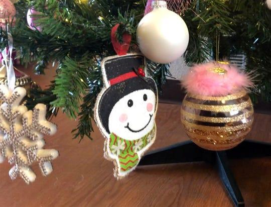 The Christmas tree in Shandy Maldonado's home.