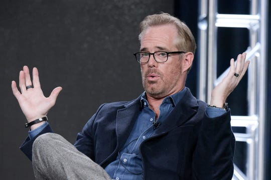"In this Thursday, Jan. 5, 2017, file photo, Joe Buck speaks during the ""Undeniable with Joe Buck and Fear(less) with Tim Ferriss"" panel at the Direct TV portion of the 2017 Winter Television Critics Association press tour in Pasadena, Calif. Fox's presentation of Thursday night football this year generally was strong and on target."
