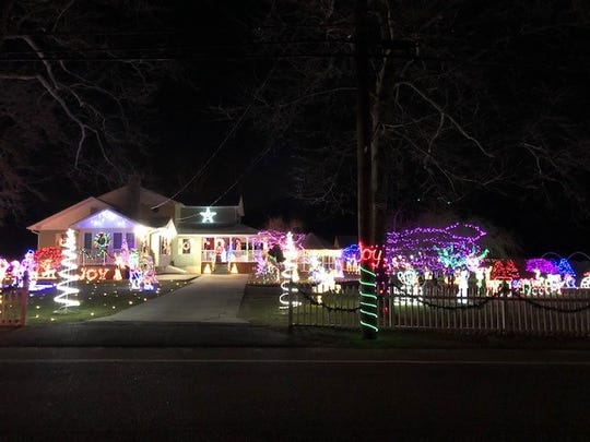 Gary and Debi Mazzone of 1150 Elm Road placed second in the City of Vineland's 2018 David DiGiovacchino Holiday Lighting Contest.
