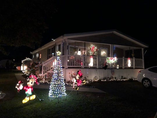 Kathy Papalo of 1976 N. East Ave., Trailer #210, placed fourth in the City of Vineland's 2018 David DiGiovacchino Holiday Lighting Contest.
