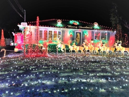 Mark and Mac Sockwell of 533 Mayfair St., placed first in the City of Vineland's 2018 David DiGiovacchino Holiday Lighting Contest.