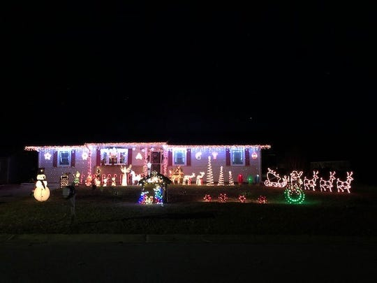Rosa Palmer, 980 Michael Ave., placed fifth in the City of Vineland's 2018 David DiGiovacchino Holiday Lighting Contest.