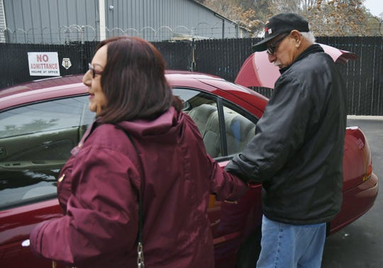 Liz and Robert Jaramillo were gifted a car and a trunk full of groceries and blankets days before Christmas.