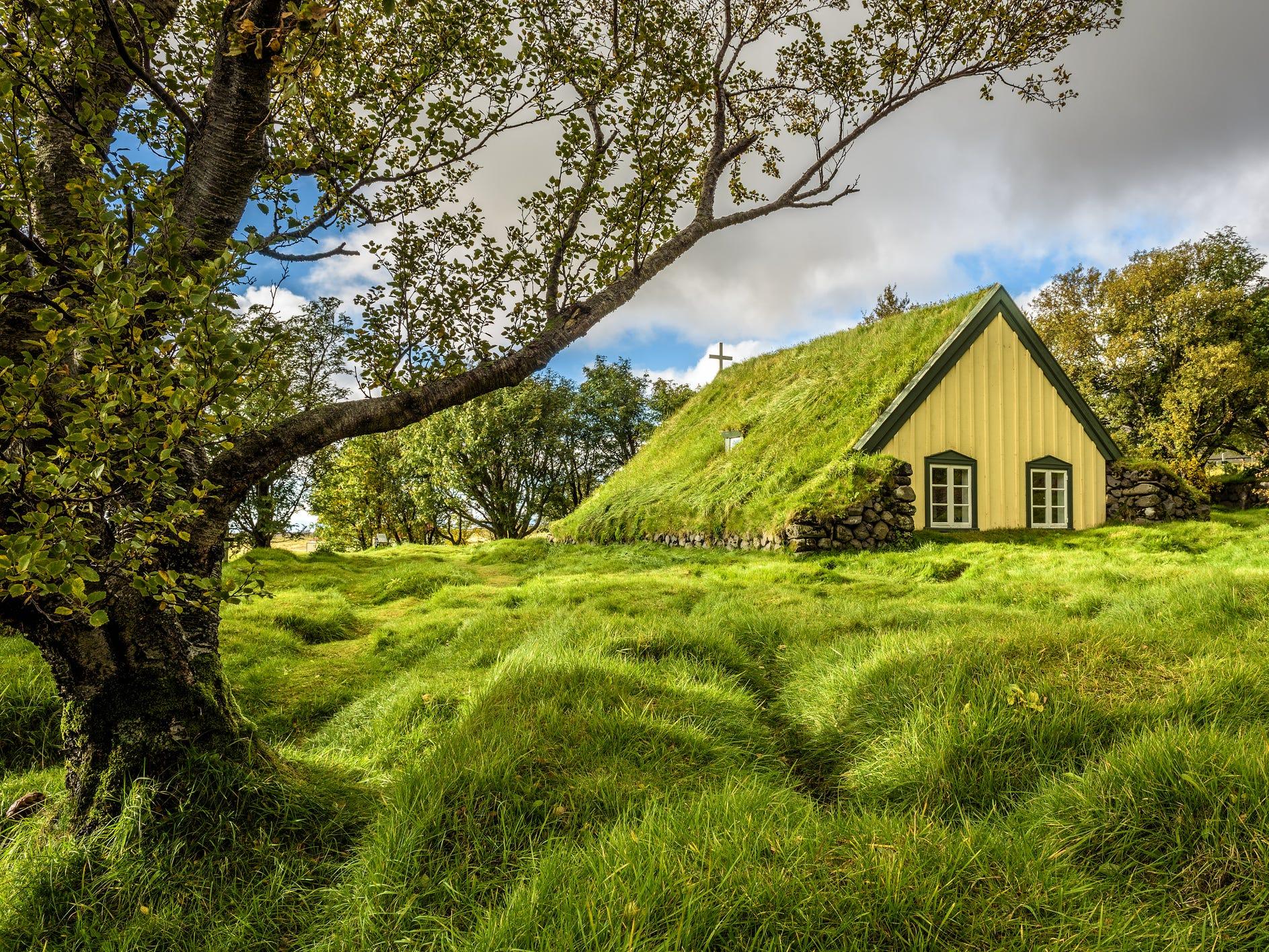 Hofskirkja in Hof, Iceland.